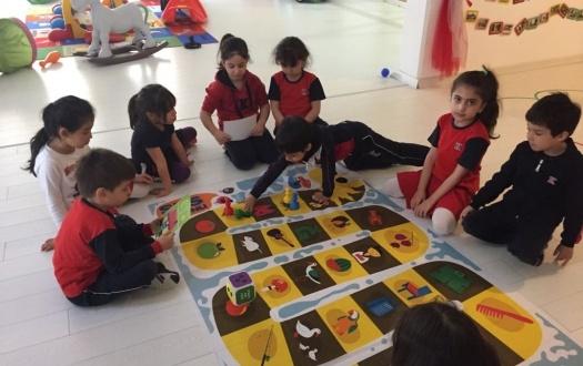 ANA SINIFI 6 YAŞ ÖĞRENCİLERİ SES OYUNUYLA İLKÖĞRETİME HAZIRLIK YOLUNDA (Kindergarten Six Year-old Students Played the Letter Game and are Ready Now for Primary School)