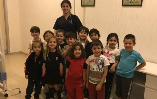 Anasınıfı öğrencilerinin revir ziyareti